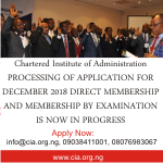 DIRECT MEMBERSHIP AND MEMBERSHIP BY EXAMINATION Induction of New Members 6th and 7th December, 2018 *** Read Now